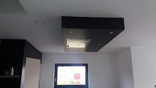 caisson plafond cuisine trendy porte interieur avec luminaire plafond suspendu design frais. Black Bedroom Furniture Sets. Home Design Ideas